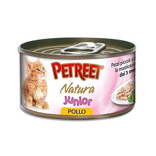 Petreet scatoletta cibo umido gatto junior natura pollo 80 gr