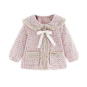 Fenical Baby Wintermantel Langarm Jacke verdickt warme Outwear britischen Stil