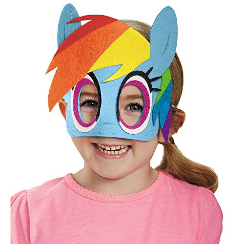 Disguise Rainbow Dash Felt Mask Costume, One Size Child by ()