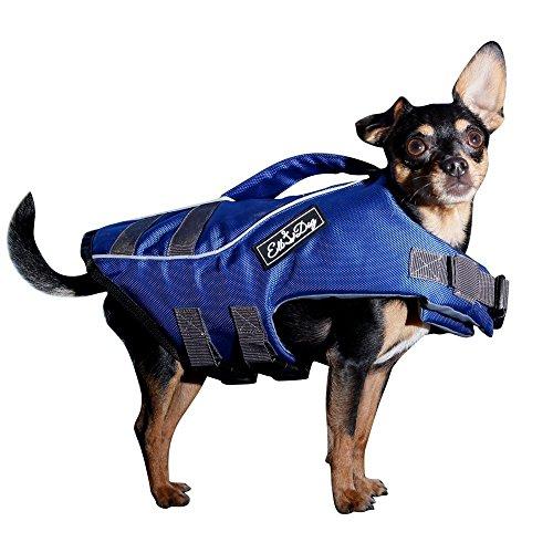 Elb Dog Hunde-Schwimmweste Blau Größe L | Kleine Hunde | Schwimmhilfe | Hunde-Rettungsweste | Schwimmtraining, Wassergewöhnung | Schwimmweste Rettungsweste Hund (Dog Schwimmhilfe)