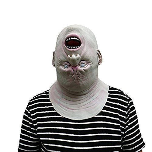Halloween Maske Terror Alien Maske - hibote Latex Maske für Gekleideten Abend / Halloween / Karneval / Masken Party/ (Alien Halloween Maske)