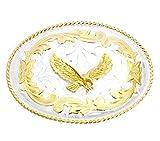 Westernwear-Shop Gürtelschnalle Silver Eagle - Westerngürtelschnalle Vintage Cowboy Belt Buckl
