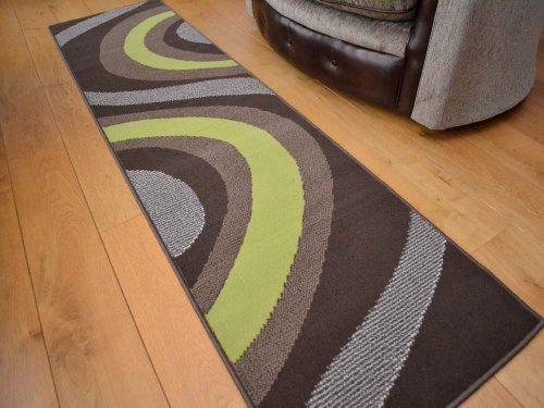 trend-brown-and-lime-green-wave-rug-8-sizes-available-70cm-x-300cm-runner