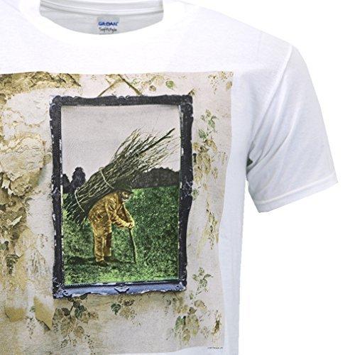 Led Zeppelin Iv Album Cover White T-shirt Official Licensed Music