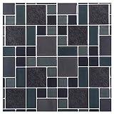 Truu Design iDesign Collection, Multi Quadratisch glänzend Wand Fliesen, 1.549,4x 25,4cm Stück, schwarz