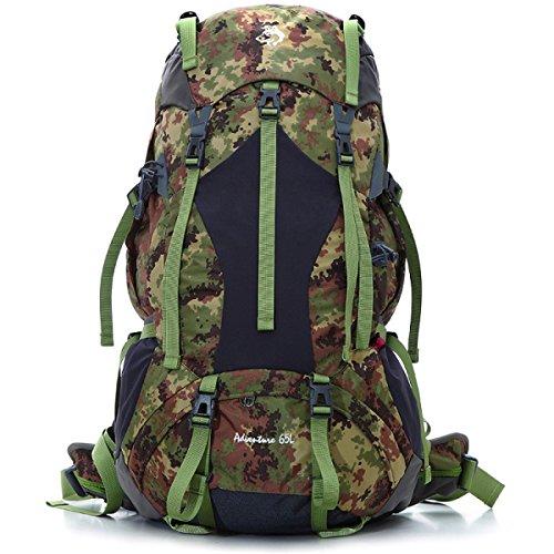 Outdoor Bergsteigen Tasche Groß Kapazität Langstrecken- Reise Rucksack 65L Camouflage