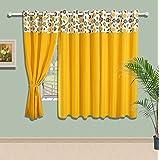 Swayam Solid Eyelit Cotton Window Curtain - Yellow (CURW-P5203)