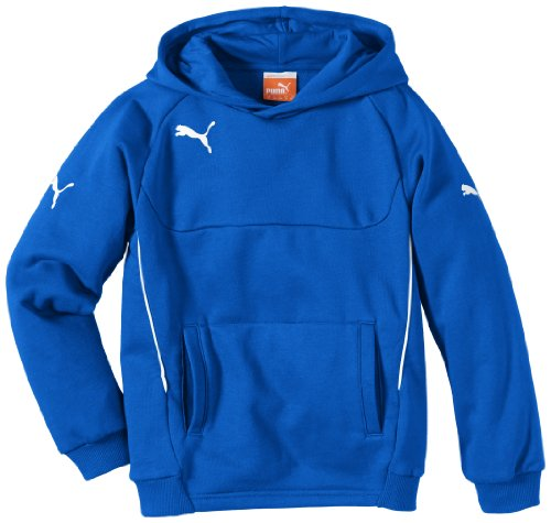 PUMA Kinder Pullover Hoody, Blau (Royal-white), 164, 653979 02 (Royal Blue Klassisches Sweatshirt)