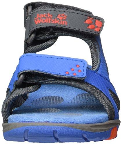 Jack Wolfskin Puno Bay B, Sandali Esterni Bambino Blu (Wave Blue)