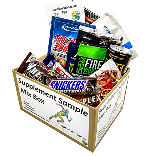 Supplement Sample Mix Box – 6 Shakes + 5 Fitnessriegel + 1 Drink diverser Markenhersteller