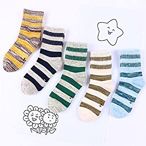 ZYTAN Kinder Socken, Socken, Reine Baumwolle Kinder Socken, Herren Jungfrau, Kinder Socken, 1-3 -5-7-9 Jahre alt 6 Paar