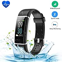 Fitness Tracker, JoyGeek Color Screen Bluetooth Heart Rate Monitor IP68 Waterproof Smart Barecelet Pedometer Wristband Men Women GPS Sports Watch Call/SMS Reminder for Apple iPhone Android Smartphone