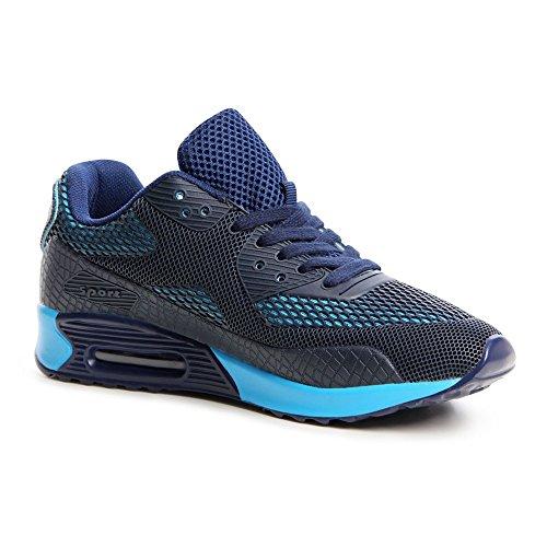 Topschuhe24 645 baskets femme chaussures de sport Bleu - Bleu foncé