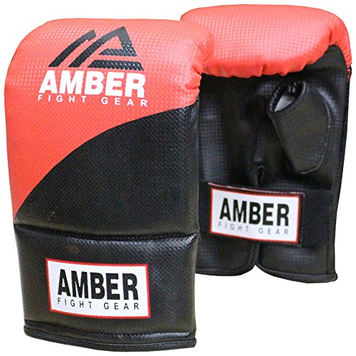 Amber Fight Gear Boxing and Mixed Martial Arts Heavy Bag Gloves Small -