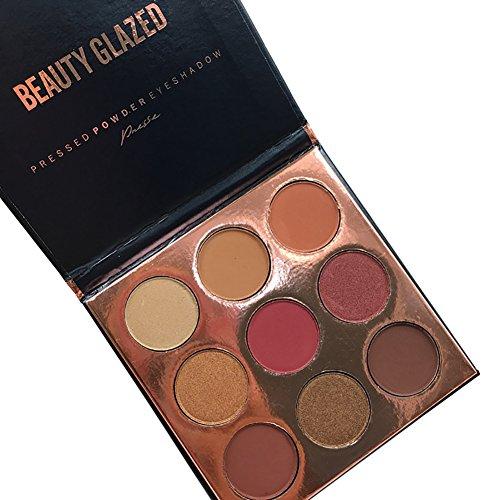 Oyalaiy 9 Couleurs Fard À Paupières Matte Palette Glitter Pigment Oeil Texture Ombre Beauté Maquillage