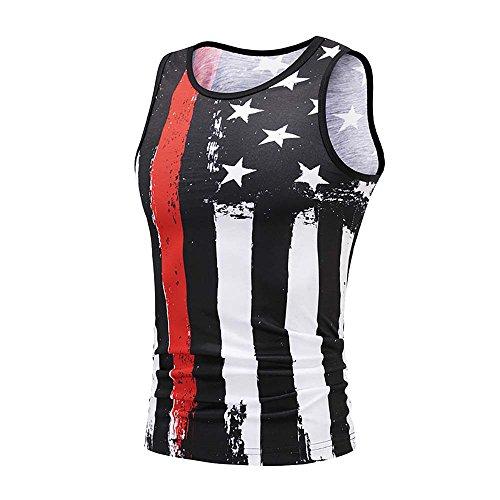 VECDY Herren Tanktop Tank Tops Sommer USA Flagge 3D Druck Slim Fit Ärmelloses Singlet T-Shirt Tops Weste Tank Ärmellos Weste Muskelshirt Fitness Madmext (Kanye West Tank Top)