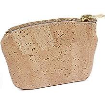 05732fd678 Borsa/borsello portamonete in nobile cuoio di sughero vegetariano - Piccola borsa  porta soldi con
