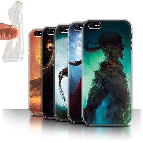 Offiziell Chris Cold Hülle / Gel TPU Case für Apple iPhone 6S / Dunkelste Stunde Muster / Dämonisches Tier Kollektion Pack 6pcs