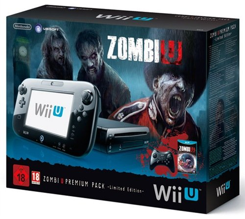 Nintendo Wii U - Console 32 GB ZombiU Premium Pack, Nero - Limited Edition