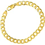 Citerna 22 cm/8.5 inch Length and 7.3 mm Width 12.5 g 9 ct Yellow Gold Curb Bracelet