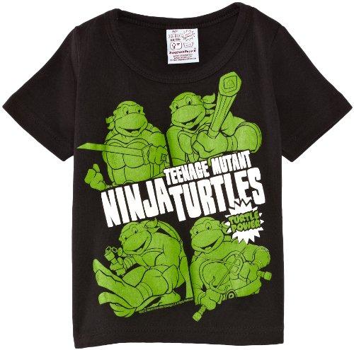 Logoshirt Jungen T-Shirt  Kids Shirt Teenage Mutant Ninja Turtles-Turtle Power  - Schwarz - Schwarz - Schwarz - 11 Jahre (Herstellergröße: Manufacturer Size:140/152)