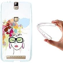 Funda Elephone P8000, WoowCase [ Elephone P8000 ] Funda Silicona Gel Flexible Acuarela - Mujer Fashion, Carcasa Case TPU Silicona - Transparente