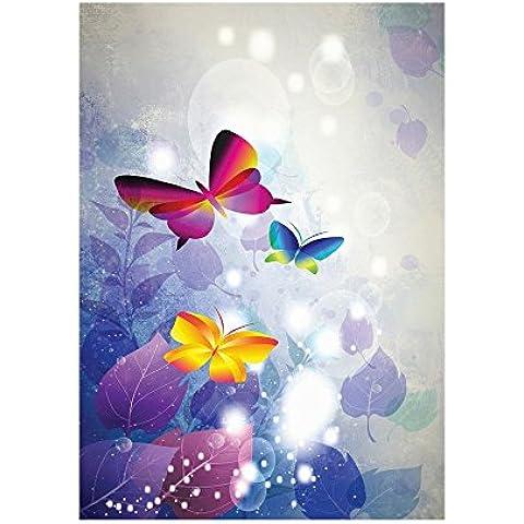 Sussurrano Farfalle 10002, Farfalla, Poster di Carta Manifesto Cartellone Design Art Foto Deco Print Immagine con Disegno Colorato. Dimensione: 61 x 91