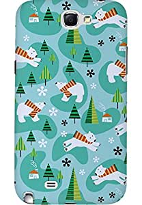 AMEZ designer printed 3d premium high quality back case cover for Samsung Galaxy Note 2 (christmas doodles)