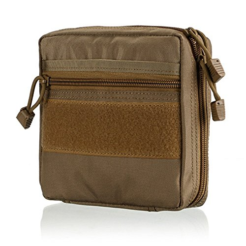 gaodear MOLLE TACTICAL Taschen Tragbar Packungen EDC Tasche Multifunktions-Medical Kit Utility Tool Gürtel Erste Hilfe Survival Tasche, braun