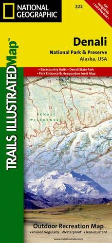 Denali National Park and Preserve (National Geographic Trails Illustrated Map)