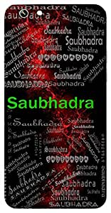 Saubhadra (Abhimanyu) Name & Sign Printed All over customize & Personalized!! Protective back cover for your Smart Phone : Samsung Galaxy E-7