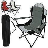 Linxor France ® Chaise de camping pliable + Sac de transport - 3 Coloris - Norme CE