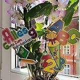 Oblique Unique® ABC Schultüte 123 Zahlen Buchstaben Tisch Dekoration zur Schuleinführung - Konfetti Zuckertüte Einschulung Schulanfang - 6
