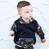 HARRYSTORE 2stk Kleinkind Baby Boy Kleidung Set Camouflage Kapuzenoberteile + Hosen Outfits Jungen Mädchen Tarnung Kapuzen Großem Paket Pullover Hosenanzug