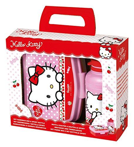 Preisvergleich Produktbild p:os 24322 - Pausenset Hello Kitty, 2-teiliges Set im Geschenkkarton