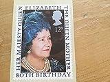 Royal Mail PHQ Briefmarken-Karten (4 Aug 1980 12p Königin Elizabeth Queen Mutter 80.)