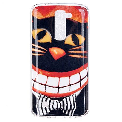 Qiaogle Téléphone Coque - Soft TPU Silicone Housse Coque Etui Case Cover pour Apple iPhone 5C (4.0 Pouce) - YH30 / Mignon chat sac dos YH34 / Sourire chat