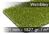 Luxus Kunstrasen Rasenteppich Wembley Grün in 19 Größen