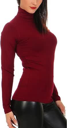 Mellice – Maglia a maniche lunghe da donna a collo alto – 020