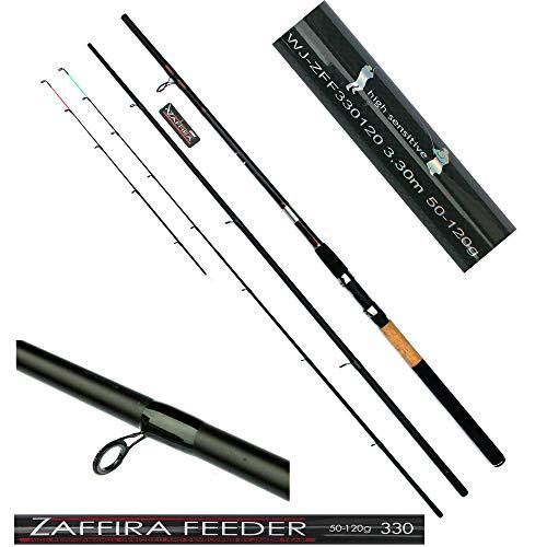 Jaxon Feederrute Zaffira Feeder Angelrute Steckrute 3 + 2- teilig 3,30m WG 50-120g