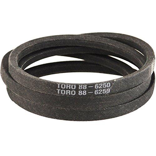 LA86 : Courroie lisse trapézoïdale pour Tondeuses autoportées TORO Tondeuse recycler 38'' - Longueur extérieure: 2192 mm - Section: 12.5x7.5 mm - N° Origine: 88-6250
