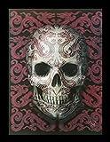 Unbekannt 3D Bild mit Totenkopf - Oriental Skull | Gothic Fantasy