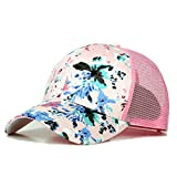 BIGBOBA Floral Casual Baseball Cap Neutral Sun Hat Mesh Caps 5 panel