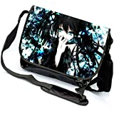 miraclel Anime Cosplay Canvas Rucksack Messenger Bag Umhängetasche schwarz Black Rock Shooter 40cmx21cmx12cm