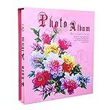 SESO UK- Classic Interstitial Fotoalbum, Hochzeit Memo Alben, Vertikale Version, für 400 Fotos mit Einer Größe von 6x4/10.2x15.2cm (4D) (Farbe : Pink)