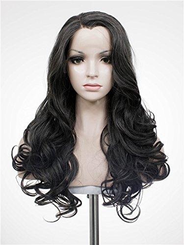 Imstyle synthétique Lace Front Perruques résistant à la chaleur Cosplay Perruque Drag Queen Couleur Mélange Gris foncé Perruque