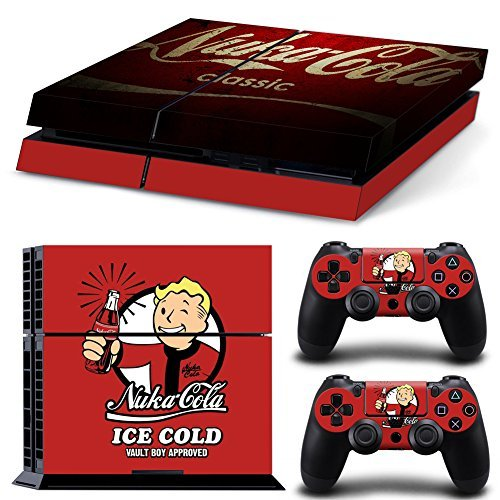 GoldenDeal PS4 Console and DualShock 4 Controller Skin Set - Vault Cola FO4 - PlayStation 4 Vinyl VII 7 by GoldenDeal