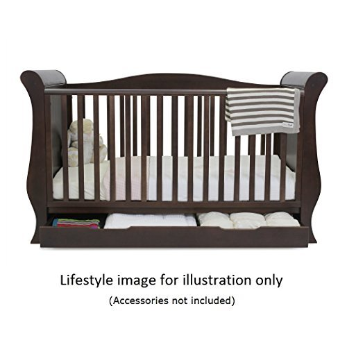 BabyStyle Hollie 2 Cot Bed with Curved Back (Walnut)  Babystyle