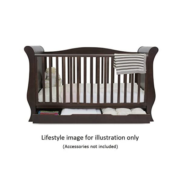 BabyStyle Hollie 2 Cot Bed with Curved Back (Walnut) Babystyle  1