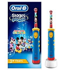 Idea Regalo - Oral-B Stages Power Spazzolino Elettrico per Bambini con Topolino